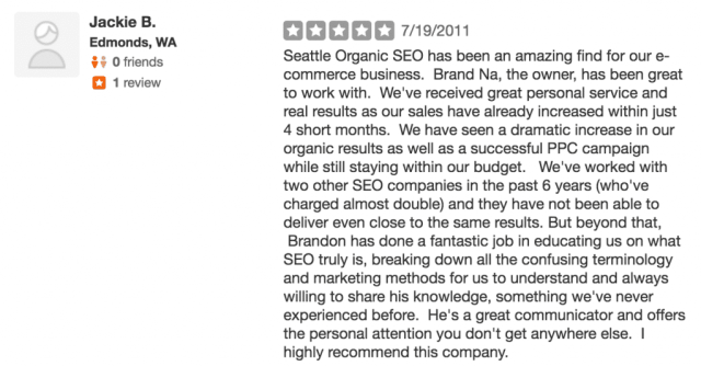 Top Seattle SEO gets another review