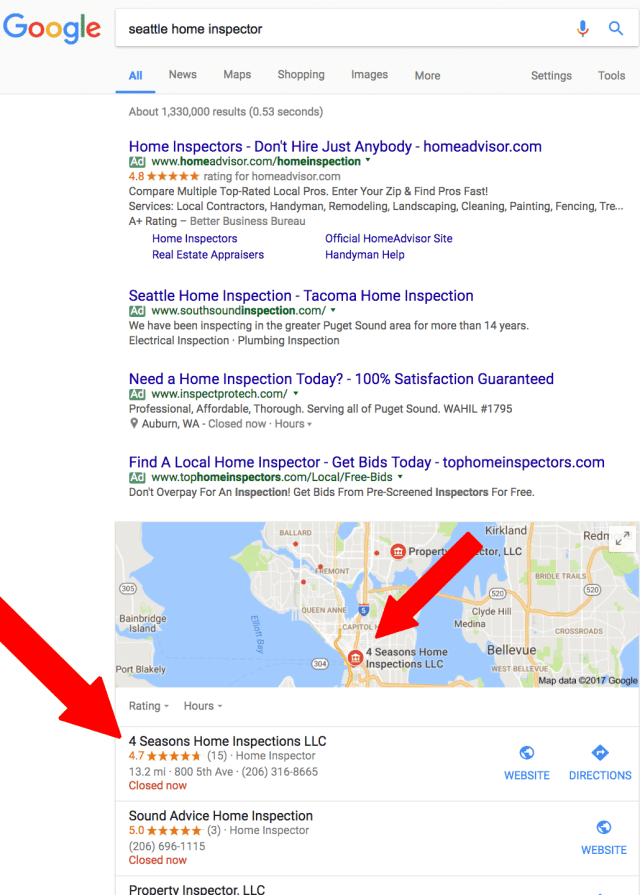 example of local seo success