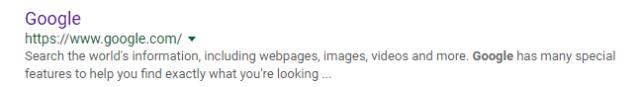 Google's Meta Description Length