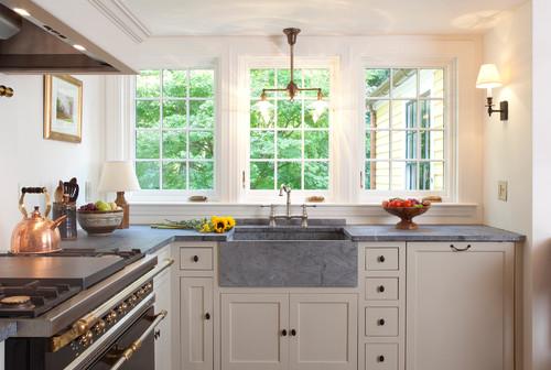 Soapstone Kitchen With No Backsplash Seattle Soapstone