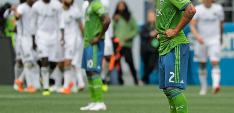 Sounder drop rivalry game 2-3 to Timbers as season spirals out of control