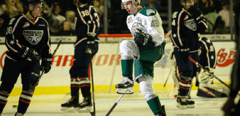 Silvertips take the series against the Americans with a 9-1 demolishing