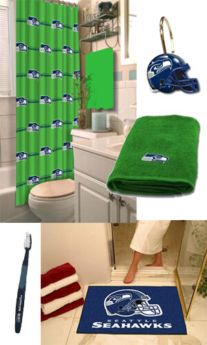 Seattle Seahawks Football Gear for Your Bathroom