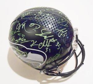 Seattle Seahawks Signed/Autographed Helmets