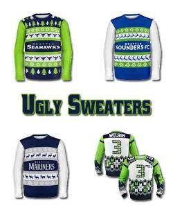 Seattle Sports Teams Ugly Holiday Sweaters