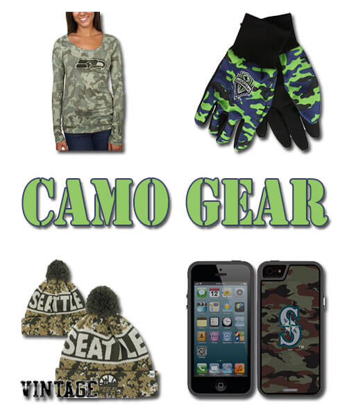 Camo Gear! Seattle Seahawks | Mariners | Sounders | Sonics Camouflage Gear