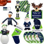Seattle Seahawks Christmas and Holiday Decorations