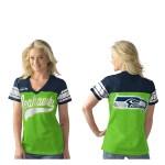 Seattle Seahawks Women's Pass Rush Mesh Top