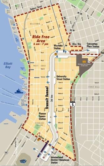 Ride Free Area (Source: Metro)