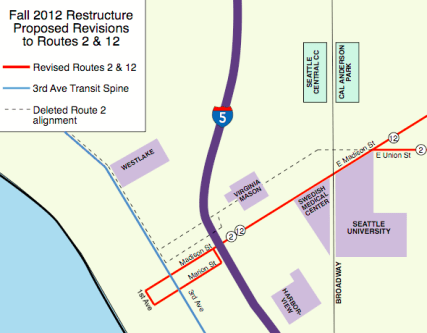 Fall 2012 Restructure: Proposed Changes to Routes 2 & 12