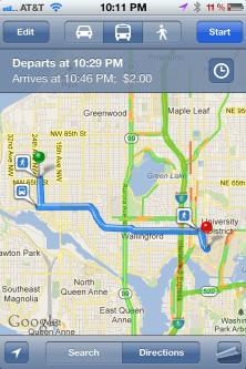 iPhone Transit Map