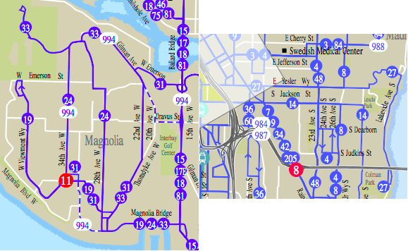 Comparions of Routes 24/33 and 27 (Metro Map)