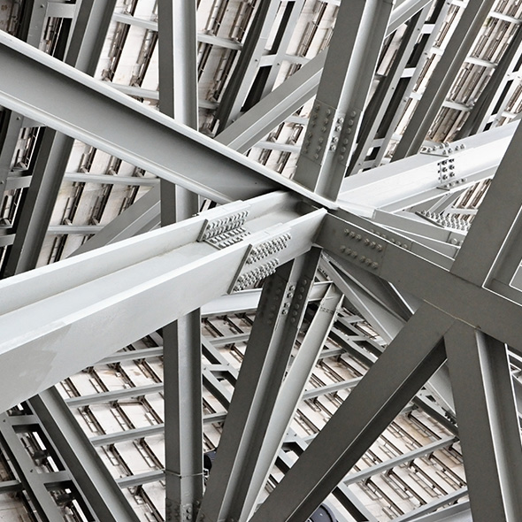 Welding Beams with rivets