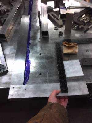 Sheets of metal being sized for cutting