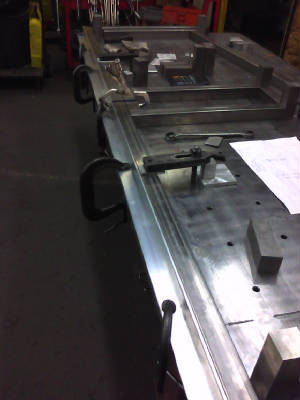 Welding aluminium on the shop