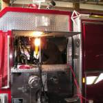 Fire truck getting service work completed