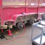Trailer Metal Repair on the road