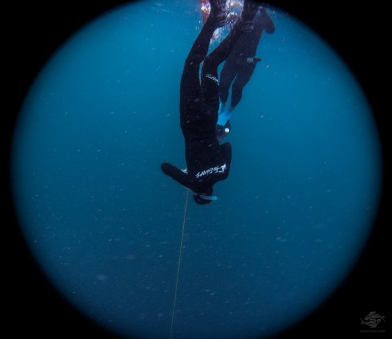 Renee descending to 30 meters