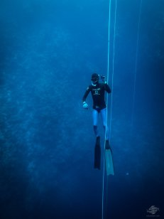 Rodolfo Escalante free-diving at blue hole dahab