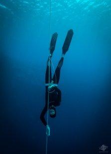 Shaun Blue free-diving at blue hole dahab