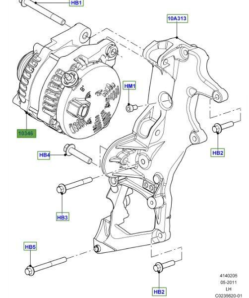 LAND ROVER GENUINE ALTERNATOR-Range Rover Evoque (L538