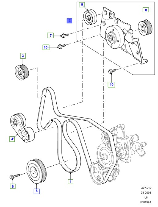 LAND ROVER GENUINE BRACKET AND BEARING- Defender (A2) 2007