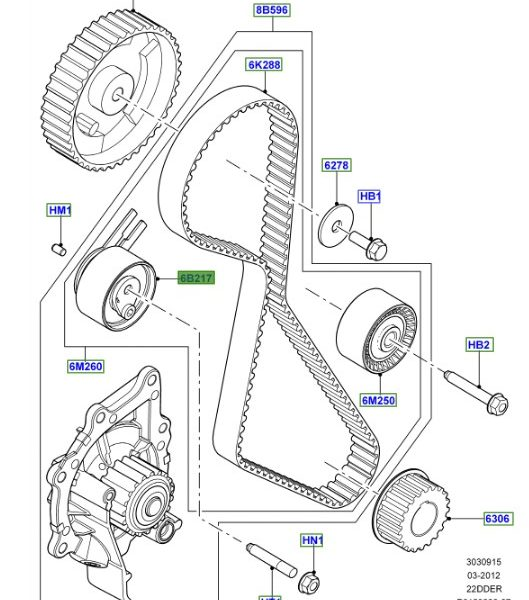 LAND ROVER GENUINE TENSIONER Discovery Sport (B5) 2015