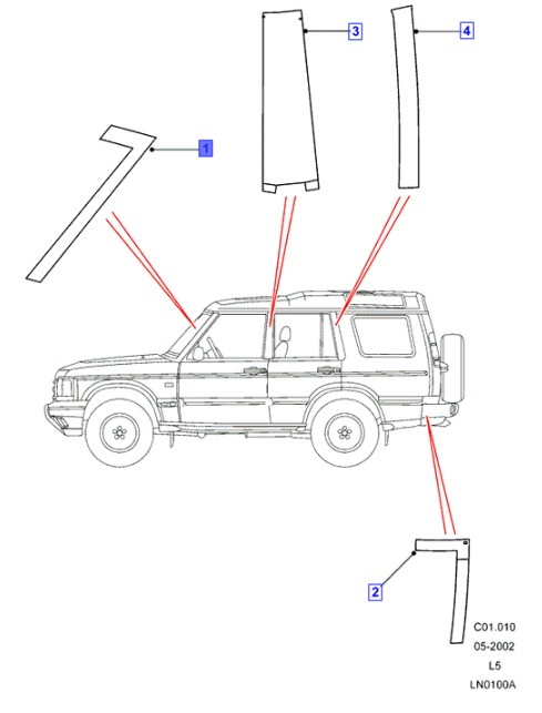 LAND ROVER GENUINE DECAL- Discovery 2 (L318)- DAR100780