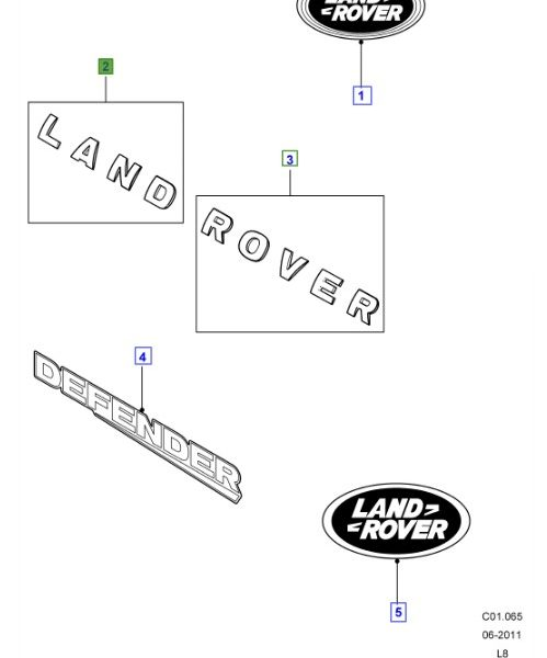 LAND ROVER GENUINE NAME PLATE- Defender (A2) 2007