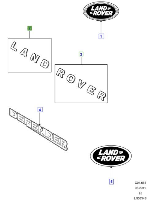 LAND ROVER GENUINE NAME PLATE- Defender (A2) 2007
