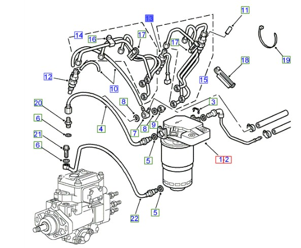 LAND ROVER GENUINE INJECTOR ASSEMBLY- Range Rover P38A
