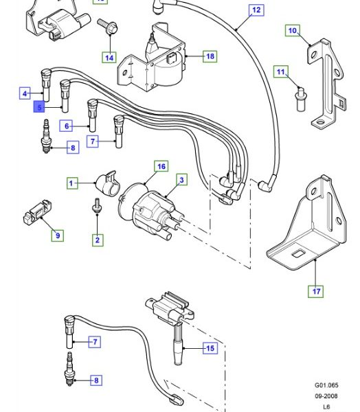 LAND ROVER GENUINE WIRE ASSEMBLY- IGNITION- Freelander