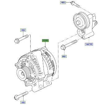 LAND ROVER GENUINE ALTERNATOR- Range Rover (L322