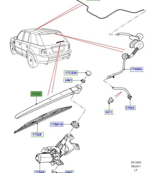 LAND ROVER GENUINE ARM WIPER Range Rover Sport (E1) 2005