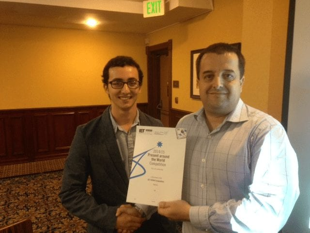 Adrian Rodriguez - Sophomore Wins Engineering Presentation Contest