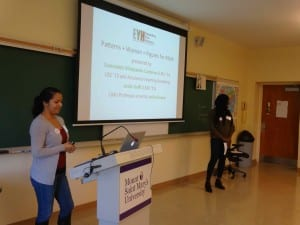 2015EYH speakers 300x225 - Esmeralda Villalpando Cardena ('13) and Leslie Koffi ('15) present at Expanding Your Horizons