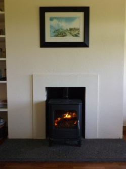 Warm stove for cold enveings