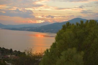 Μαγικό ηλιοβασίλεμα στο Παληό Καβάλας, Ελλάδα