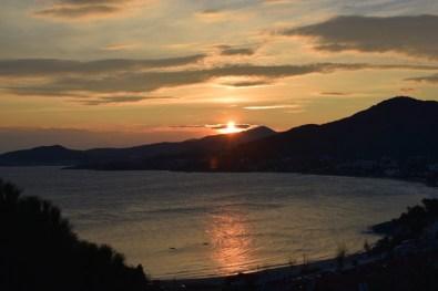 Magic sunset in Palio Tsifliki, Greece