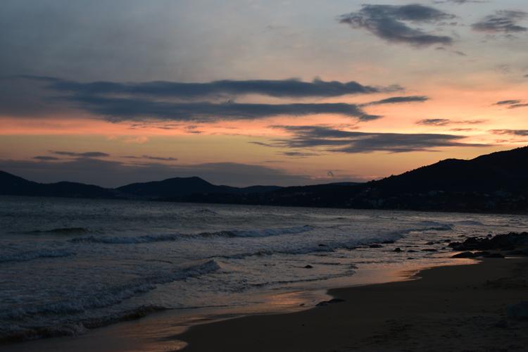 Η μαγεία του ηλιοβασίλεμα, Παληό Καβάλας, Ελλάδα