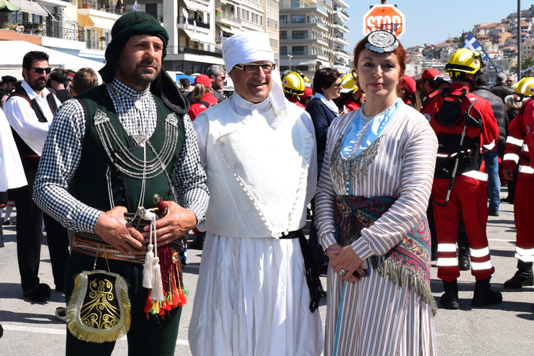 Parade on 25 March, Kavala, Greece