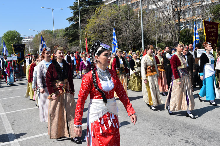Parade on 25 March in Kavala, Greece