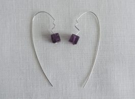 Amethyst and Silver Threaders