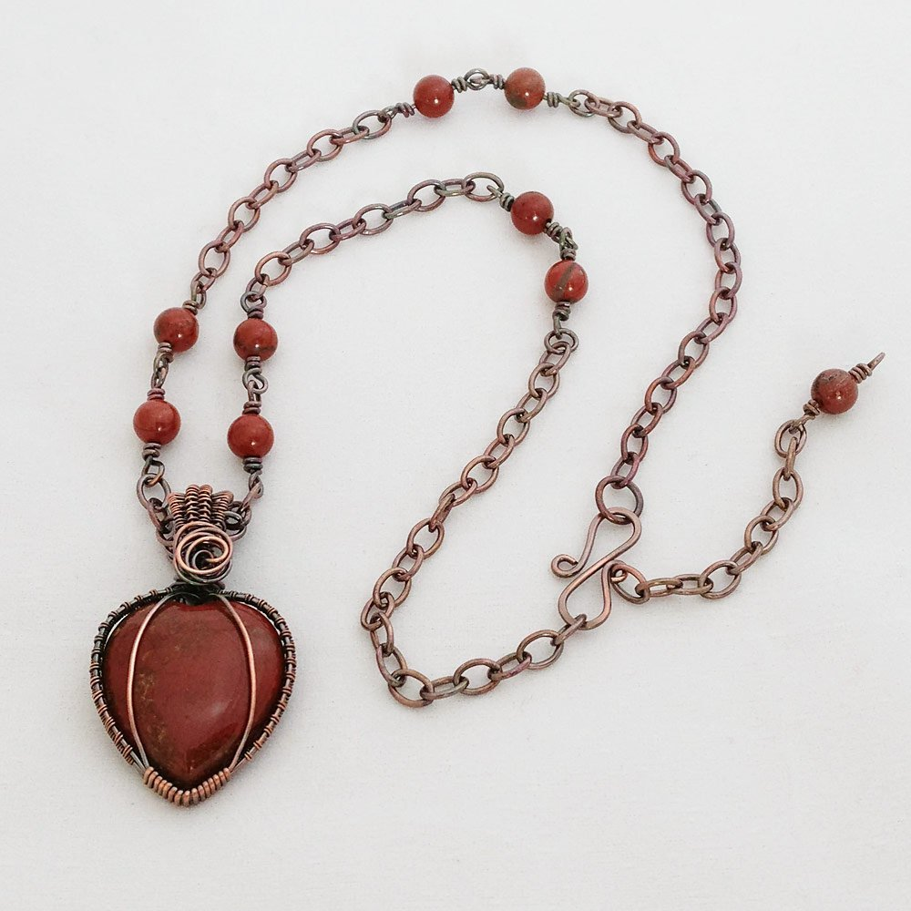 heart tweak and necklace style silver red pendant broken of product set