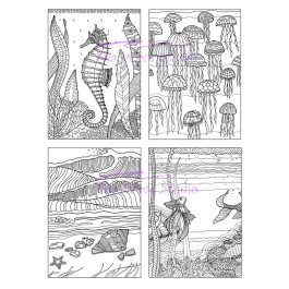 Coloring Cards set