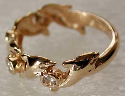 Diamond Dolphin Ring