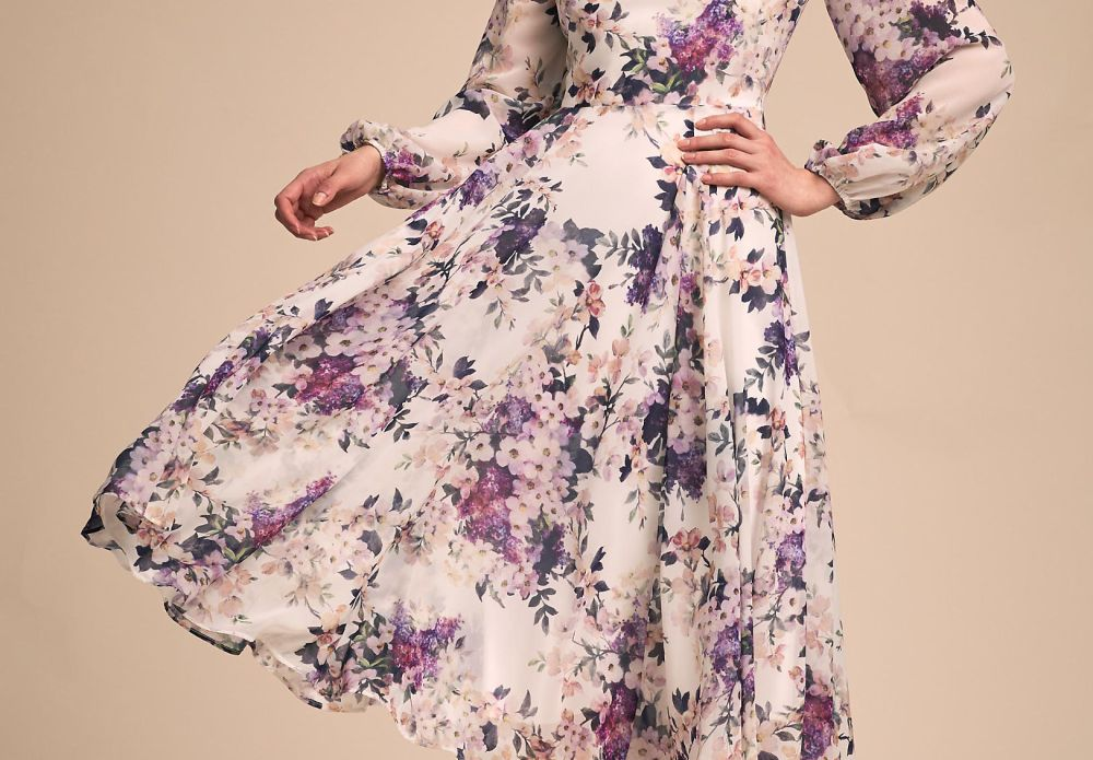 Floral Dress by BHLDN