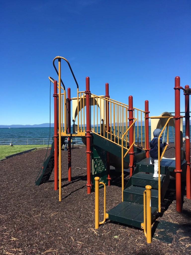 regan beach lac tahoe plaine de jeux