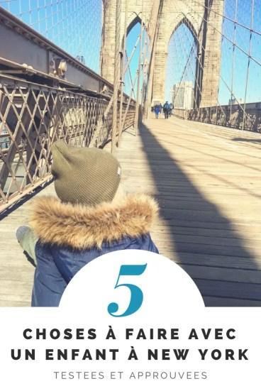 5 choses à faire avec un enfant à New York