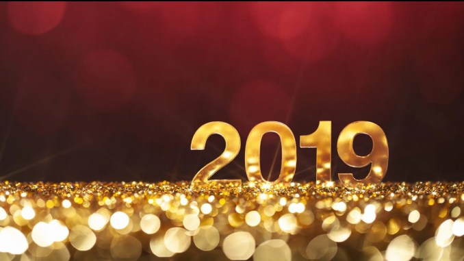 - New Year Christmas Decoration 2019 - Gold Red Party Celebration